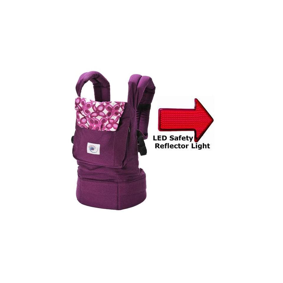3b62a09694a Ergo Baby BC50351KIT1 Purple Mystic Baby Carrier with LED Safety Reflector  Light