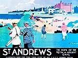 TRAVEL TOURISM ST ANDREWS FIFE SCOTLAND GOLF ROYAL ANCIENT SPORT 30x40 cms ART POSTER PRINT PICTURE CC6953