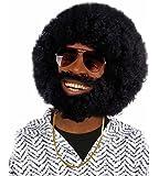 Boland 86311 - Perücke Rufus im Afro Lock mit Bart, schwarz
