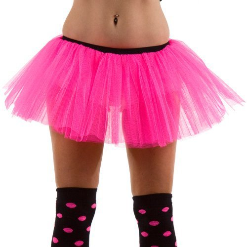 Tutu Layered Underskirt Neon Pink Fancy Dress Costume Accessories