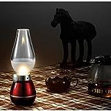 (アイアンコ)iAnko ガラス 照明 レトロ ライト 高級 息を吹きかけて点消できる 充電式調光フェラコントロールLEDランプ/クラシック灯油ランプデザイン/ USB LEDテーブルライトの明るさが調整可能パワード 屋内&屋外で使用する場合、常夜灯、読書灯、ロマンチックなディナー、アウトドアキャンプ、釣り、装飾、など(レッド)