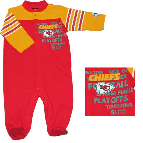 Gerber Kansas City Chiefs Newborn Sleep 'N Play Set 3-6 Months front-611403