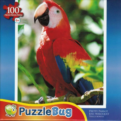 Puzzlebug 100 Piece Jigsaw Puzzle - Pretty Parrot