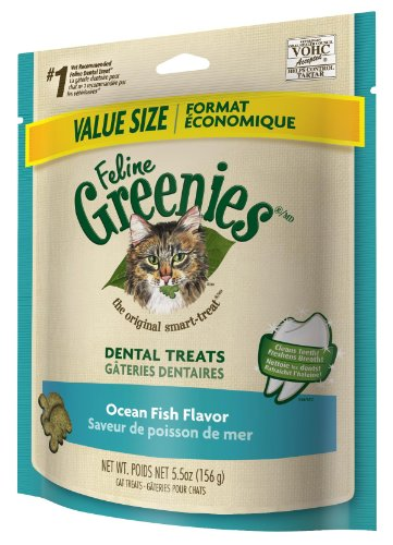 Feline Greenies Dental Treats Ocean Fish for