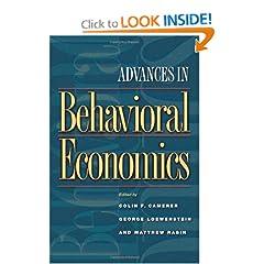 Advances in Behavioral Economics (Roundtable Series in Behavioral Economics) (9780691116822)