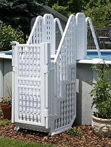Amazon Com Above Ground Pool Steps Ladder W Gate