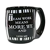 Team Work Means More We And Less Me Quotation Stoneware Mug