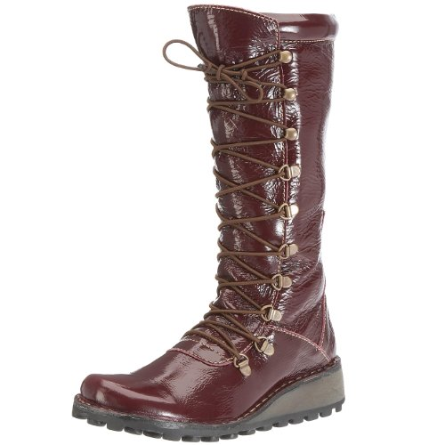 Fly London Women's Maos Purple Lace Up Boot P210389035 4 UK