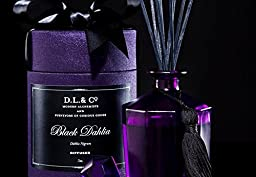 D.L. & Co. BLACK DAHLIA 10 Sided 250ml AROMATHERAPY FRAGRANCE DIFFUSER SET by D.L. & Co
