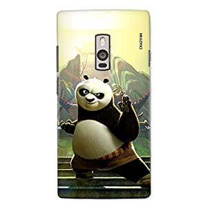 CrazyInk Premium 3D Back Cover for ONE PLUS TWO - KUNFU PANDA
