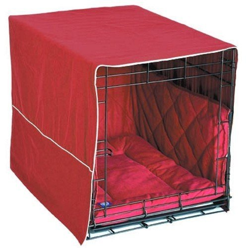 "Classic Cratewear 3 Piece Crate Dog Bedding Set Color: Burgundy, Size: Large: 23"" W X 36"" D front-956922"