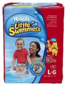 Huggies Little Swimmers Disposable swimpants, Large, 17 Count (Pack of 6)