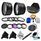 Essential Kit for CANON REBEL (T3i T3 T2i T2 T1i XTi XT XSi XS), CANON EOS (1100D 600D 550D 500D 450D 400D 350D 300D) Includes