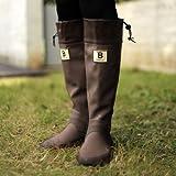 バードウォッチング長靴[ブーツ](収納袋付)ブラウンL
