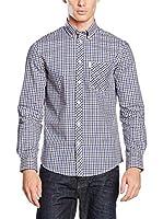 Ben Sherman Camisa Hombre House Mod Ls (Azul / Negro)