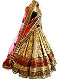 Pramukh Enterprise Designer Cream Bridal Lehenga Choli