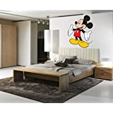 Decal Style Mickey Mouse Wall Sticker Large Size- 26*34 Inch Color - Multicolor