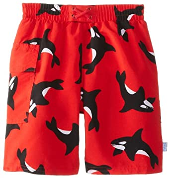 i play. Baby-Boys Infant Ultimate Swim Diaper Pocket Trunks, Red Killer Whale, 3T