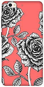 The Racoon Grip printed designer hard back mobile phone case cover for Gionee S6. (rose sketc)