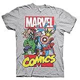 100% Official License Marvel Comics Heroes Männer T-Shirt mit Helden Aufdruck
