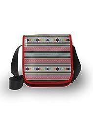 Atrangee Black Bold Aztec City Sling Bag
