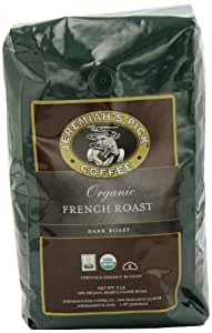 Jeremiah's Pick Coffee Organic French Roast Whole Bean Coffee, 32-Ounce Bag (Pack of 2)