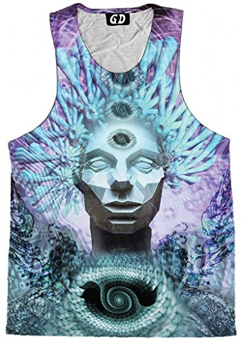 Gratefully Dyed Chieftain Tank Top – Premium All Over Print Graphic Shirts – XXX-Large
