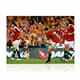 Leigh Halfpenny Signed British Lions Rugby Photo: Kicking For Glory