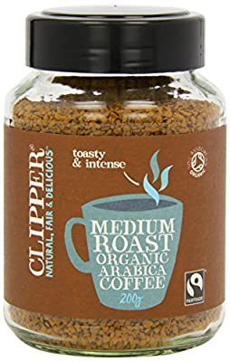Clipper Fairtrade Organic Medium Roast Instant Coffee 200g (Pack of 2) from Clipper Teas Ltd
