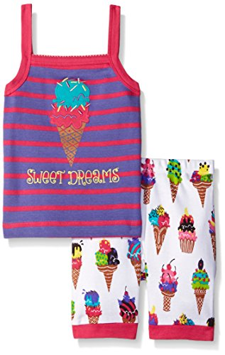 Hatley Big Girls Ice Cream Tank PJ Set, Purple, 8