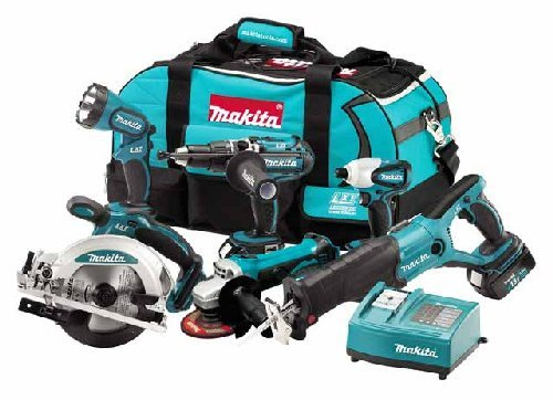 Makita LXT600 18V Kit (Includes Combi Drill / Circular Saw / Impact Driver / Recip Saw / Angle Grinder / Torch) with 3x3.0 Ah Li-ion Batteries (6 Piece)