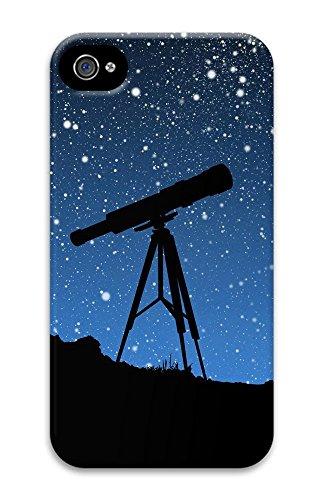 Iphone 4 4S Case Sky Telescope 3D Custom Iphone 4 4S Case Cover