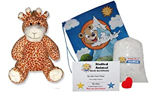 Make Your Own Stuffed Animal Giraffe Kit - No Sew - With Cute Backpack!