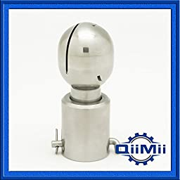 Sanitary Stainless Jet Head Rotary Spray Ball Clip On CIP Tank Cleaning (0.75 Inch)