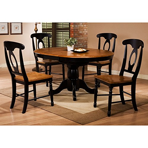 Winners only quails run round single pedestal dining table for Round table with butterfly leaf