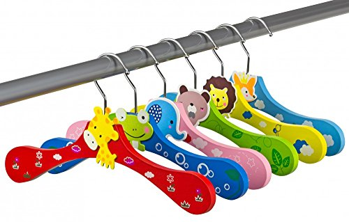 Kinder-Kleiderbgel-aus-Holz-6er-Set-Tiermotive-bunt