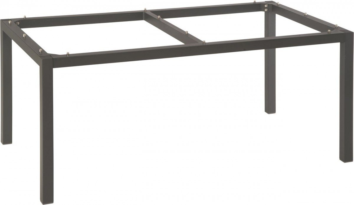 Dreams4Home Tischgestell 'Ramon' - Tischgestell, Gartentischgestell, Esstischgestell, ohne Tischplatte, Gartenmöbel, Terrassenmöbel, B/H/T: 90 x 72 x 160 cm, Aluminiumgestell, in anthrazit