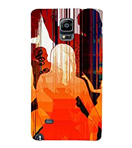 PrintVisa Dance Party Music Art 3D Hard Polycarbonate Designer Back Case Cover for Samsung Galaxy Note 4