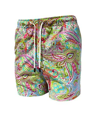 98 Coast Av. Men's Aqua Amiba Shorts