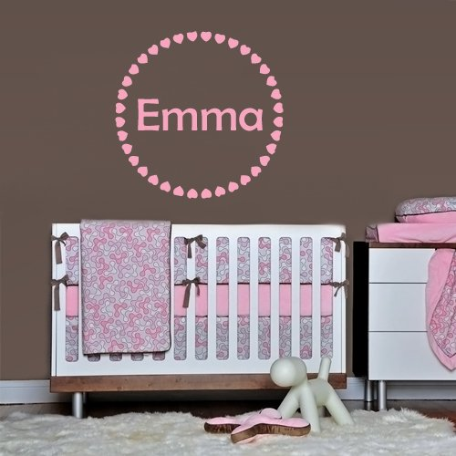 Wall Decals Sticker Bedroom Kids Nursery Baby Custom Name Monogram Personalized Hearts Sign Words Frame (Z1100) front-977736