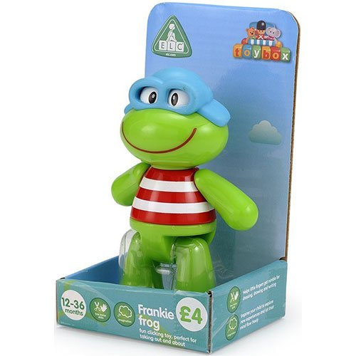 Early Learning Centre Toybox Frankie Frog Baby Toy - Auditory and Tactile Interaction For Children -Engages and Employs Creativity - For On-The-Go or At-Home Play - Ages 12 Months and Up - 1