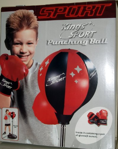 Childrens Boxing Set Gloves Punching Bag Kids Toy Bag