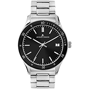 Jacques Lemans Rome Sports 1-1622ZF 44mm Silver Steel Bracelet & Case Mineral Men's & Women's Watch