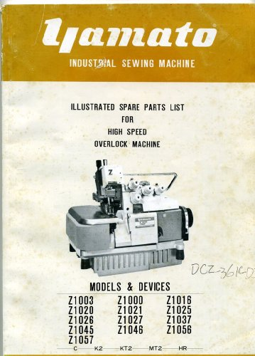 Yamato Industrial Sewing Machine Manual 13 Z Models