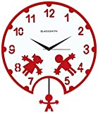 Blacksmith Aluminium Playing Kids Wall Clock (Red)