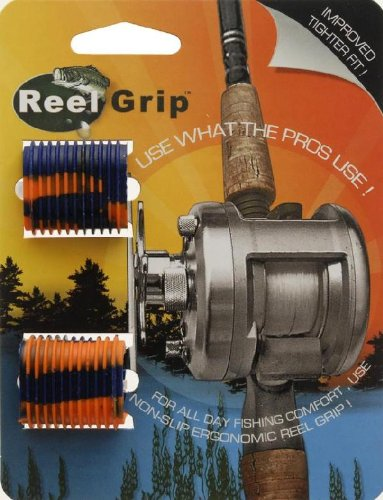 Reel Grip Fishing Rod Hand Grip (2-Pack), Orange (Fishing Reel Grips compare prices)