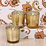 Decorative Buckets: SET OF 3 MARIGOLD AROMA VOTIVE CANDLE : SCENTED CANDLE : (DINNER CANDLE) DECORATIVE GLASS...