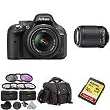 Nikon-D5200-Black-with-18-55mm-and-55-200mm-VR-Lens-Value-Bundle