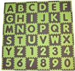 Tadpoles Playmat Set 36-Piece ABC, Sa...