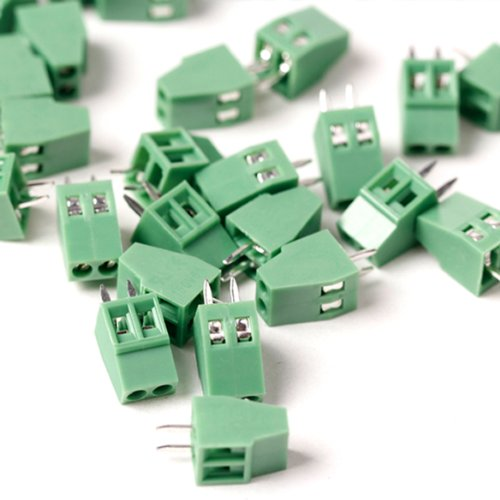 5pcs 2 Poles/2 Pin 2.54mm/0.1″ PCB Universal Screw Terminal Block Connector